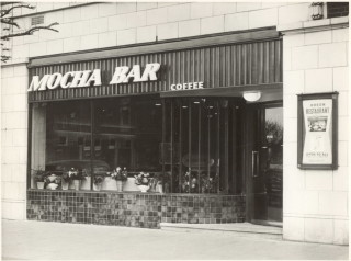 Front view of coffee bar named Mocha Bar | Watford Museum