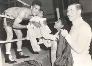 Allan Buxton with sister Doris