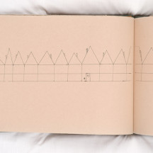 A page from 'Pillow Talk' by Bridget West, part of the Dream Landings exhibition