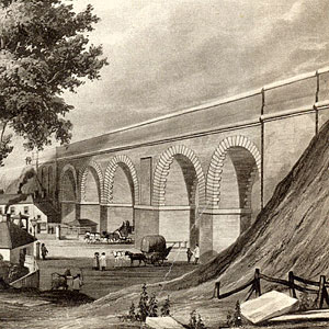 Railway viaduct at Bushey Arches, Watford