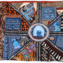 Detail of 'Out of South Africa' by Carol Ballard, part of the Dream Landings exhibition