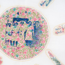 Detail of 'My Father's Dreams' by Charlene Belgrave, part of the Dream Landings exhibition