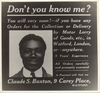 Claude Buxton's advert