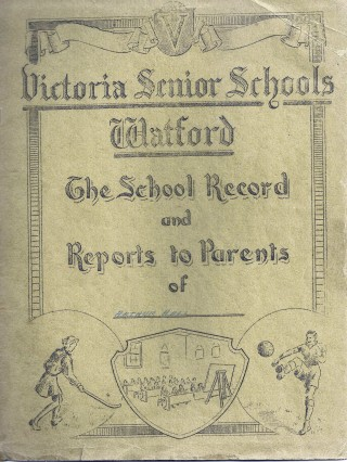 Front Cover of my school reports