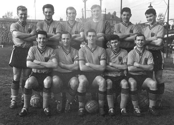 Watford Football Club in the early 1960s. Cyril 'Sammy' Chung is in the back row, second on the right.