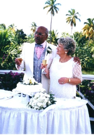 Allan and Pauline renew their vows in Antigua