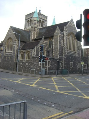 Holy Rood Church on Watford's ring road