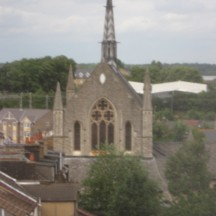 St Johns Church.This church is not very easy to see and find from  the ground. Up high the Church looks majestic.