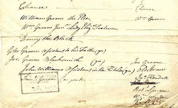 Record from Cassiobury Estate