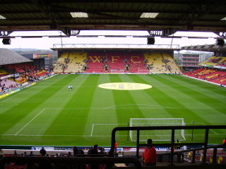 Vicarage Road, Watford. | Image by Brakspear,  licensed under the Creative Commons Attribution 2.0 Generic license..
