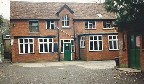Classrooms - sixth form upstairs and music room above green door