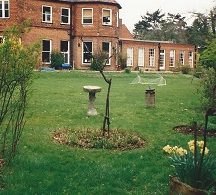 Front lawn,main house and dining room from Miss Harris's house