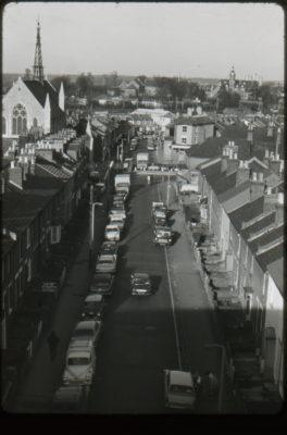 High view down Sutton Road