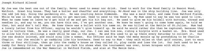 Joey s sister s memories of him.